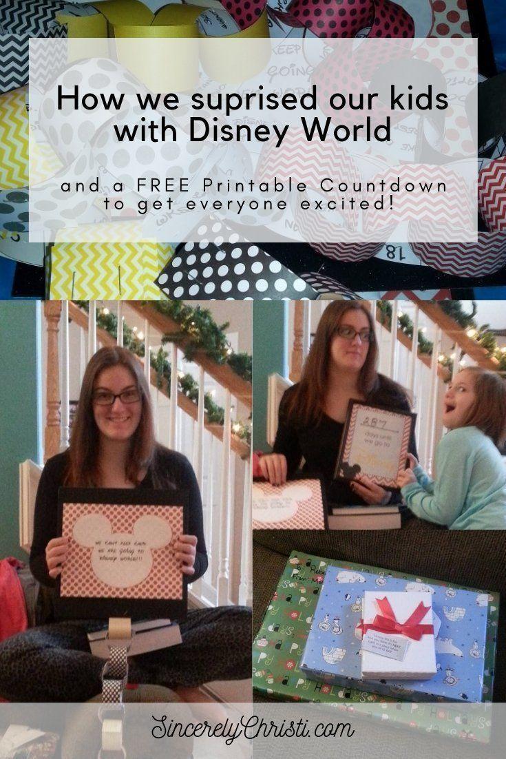 Our Disney Reveal And A Countdown Calendar Printable