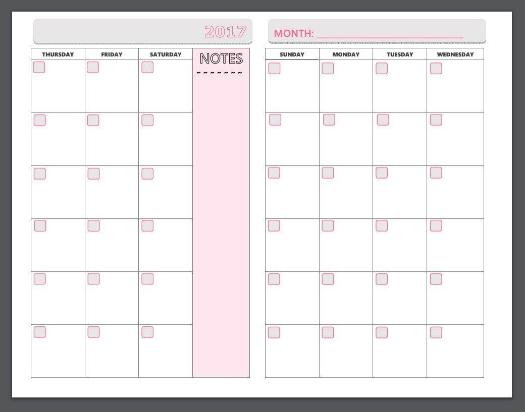 Page Weekly Nner Template Free Schedule Business N Printable
