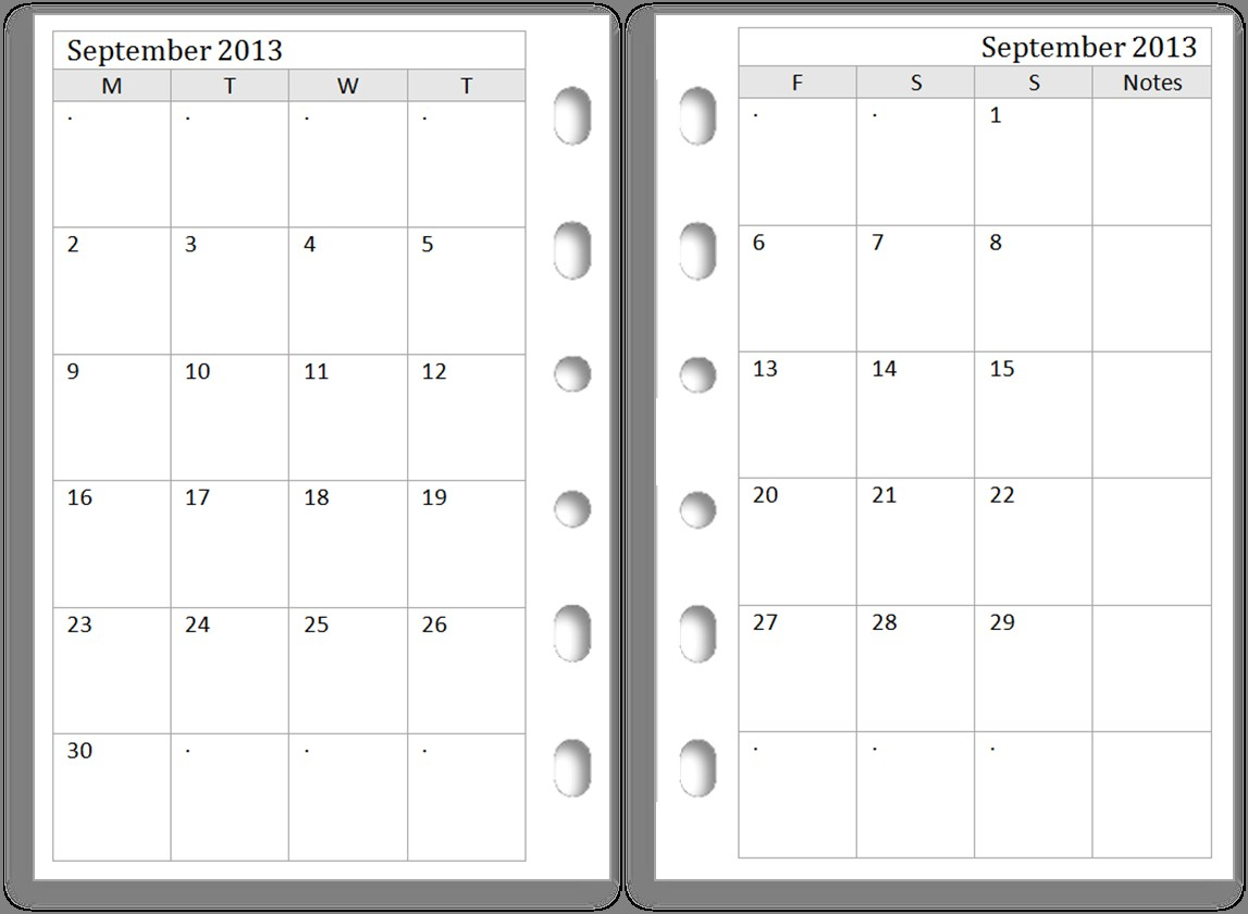Page Weekly Planner Template Free Month Calendar Business