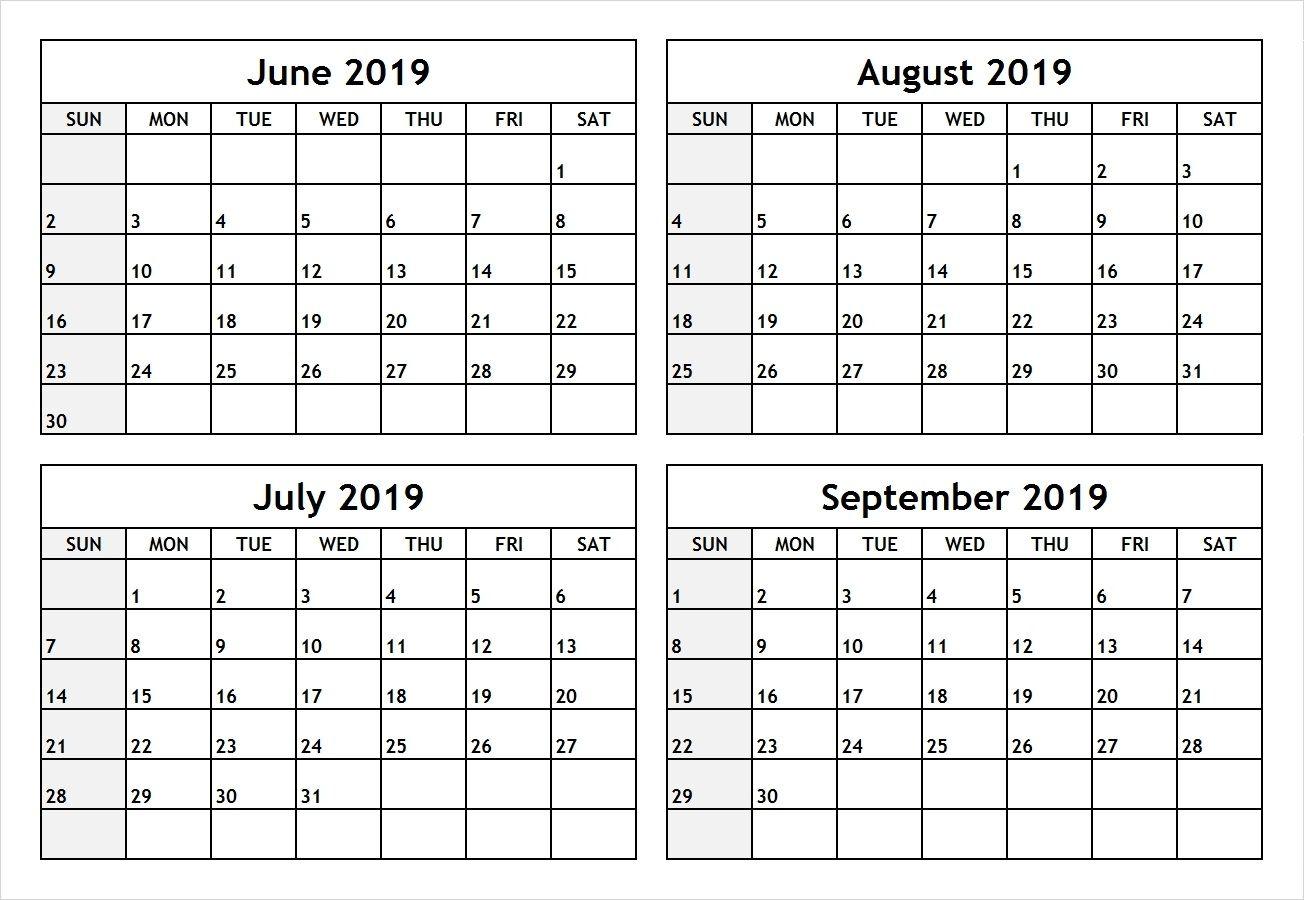 Pdf June July 2019 Calendar | June July 2019 Calendar