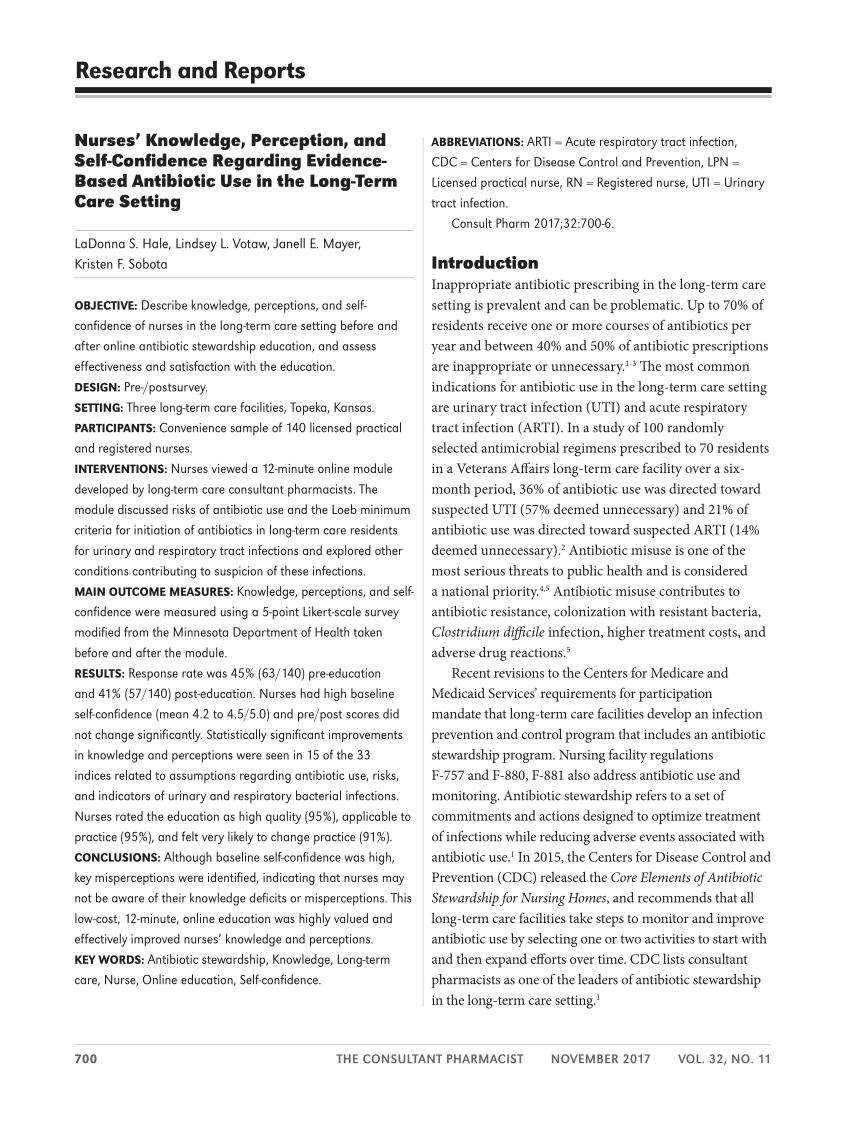 Pdf) Nurses' Knowledge, Perception, And Self-Confidence