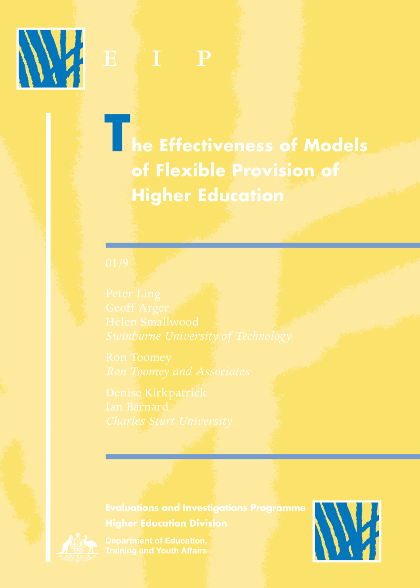 Pdf) The Effectiveness Of Models Of Flexible Provision Of