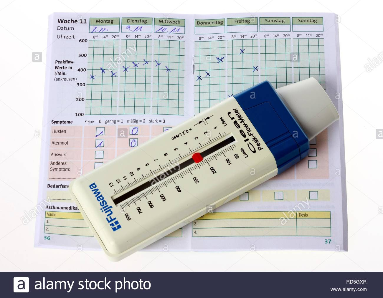 Peak Flow Meter Stock Photos & Peak Flow Meter Stock Images