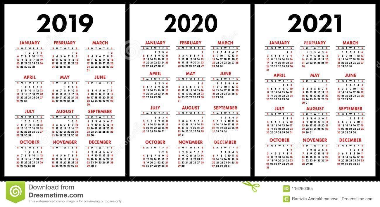 Perky 2 Year Pocket Calendar 2019 And 2020 • Printable Blank