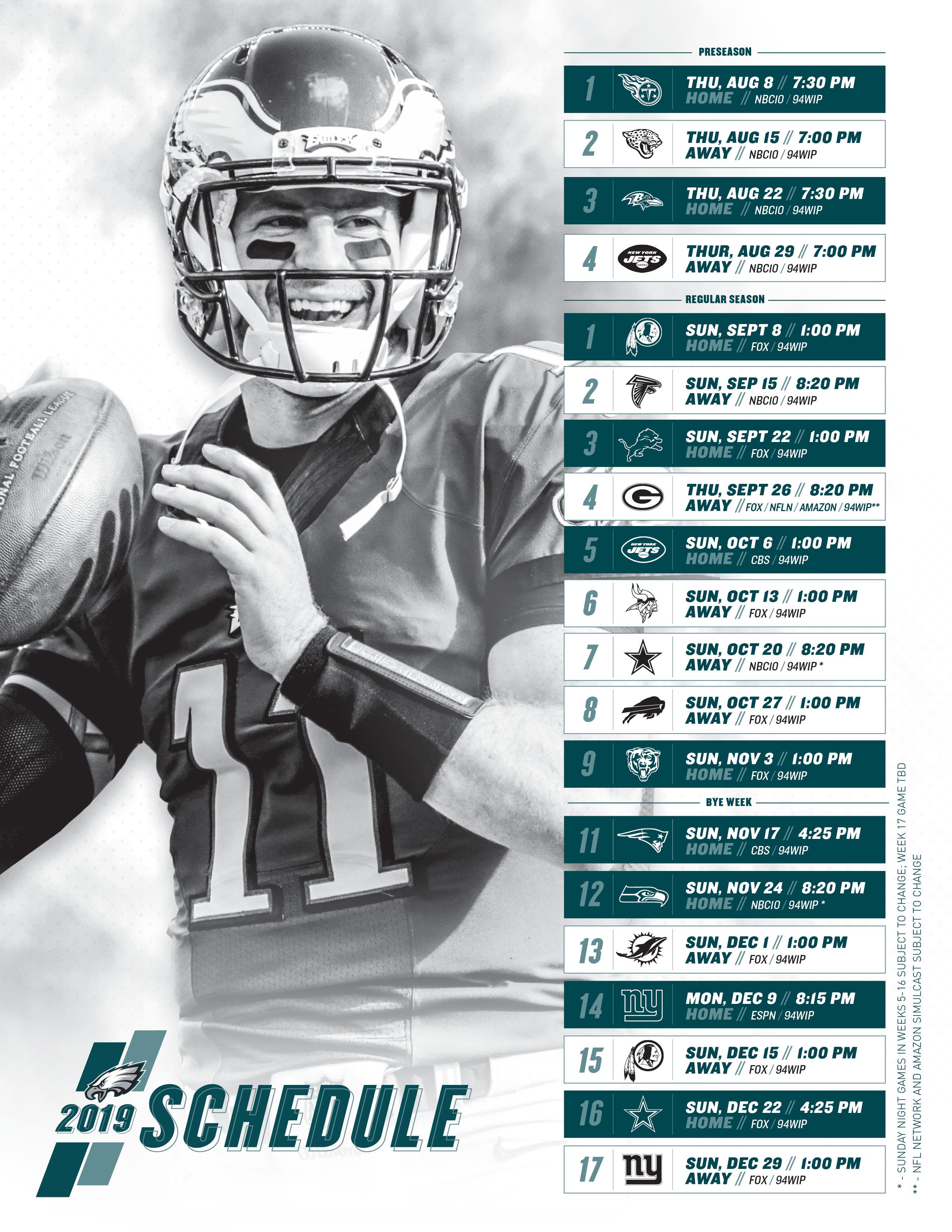 Philadelphia Eagles Schedule