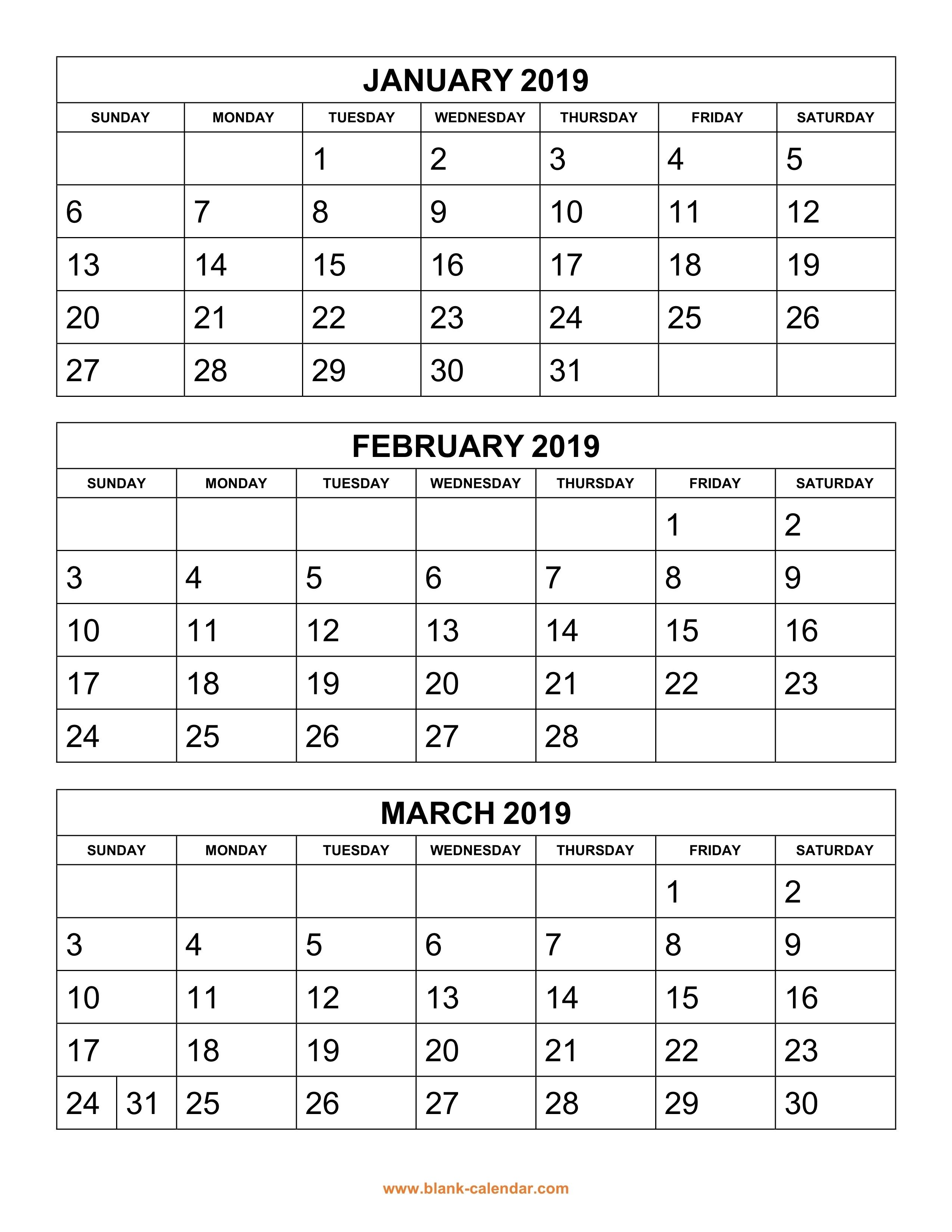 Pick Blank 3 Month Printable Calendar ⋆ The Best Printable