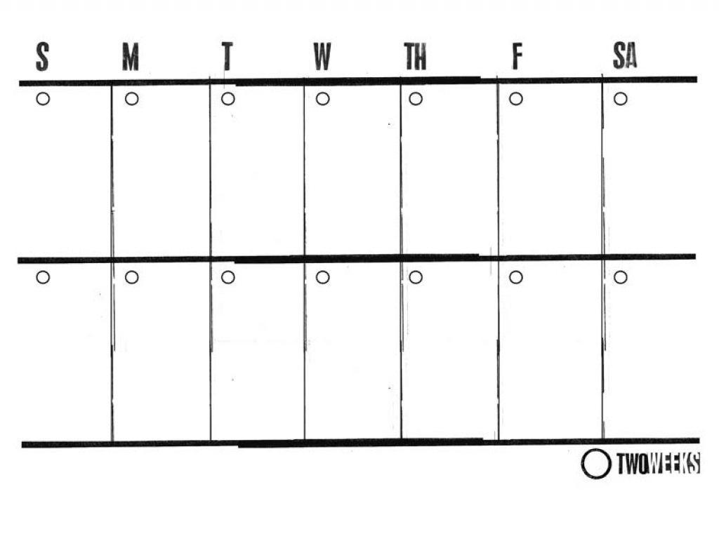 Pick Blank Two Week Schedule Template ⋆ The Best Printable