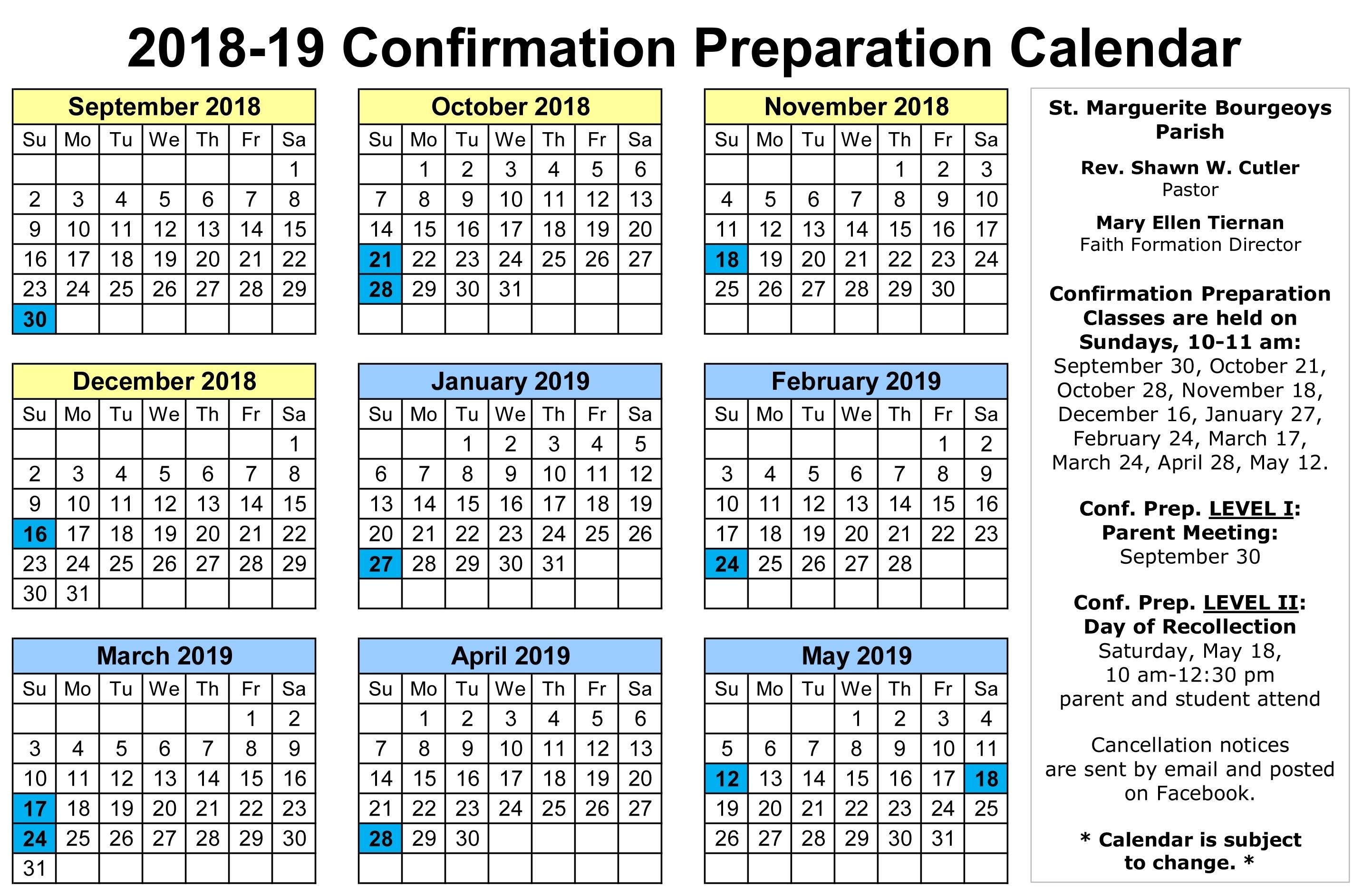 Pick Catholic Church Calendar April 2019 ⋆ The Best