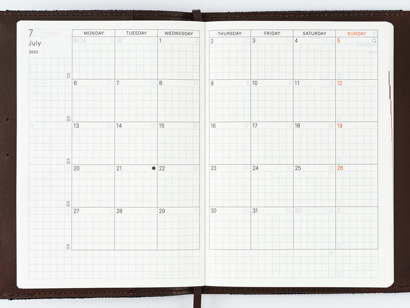 Planner / Monthly Calendar - Book Buying Guide - Hobonichi