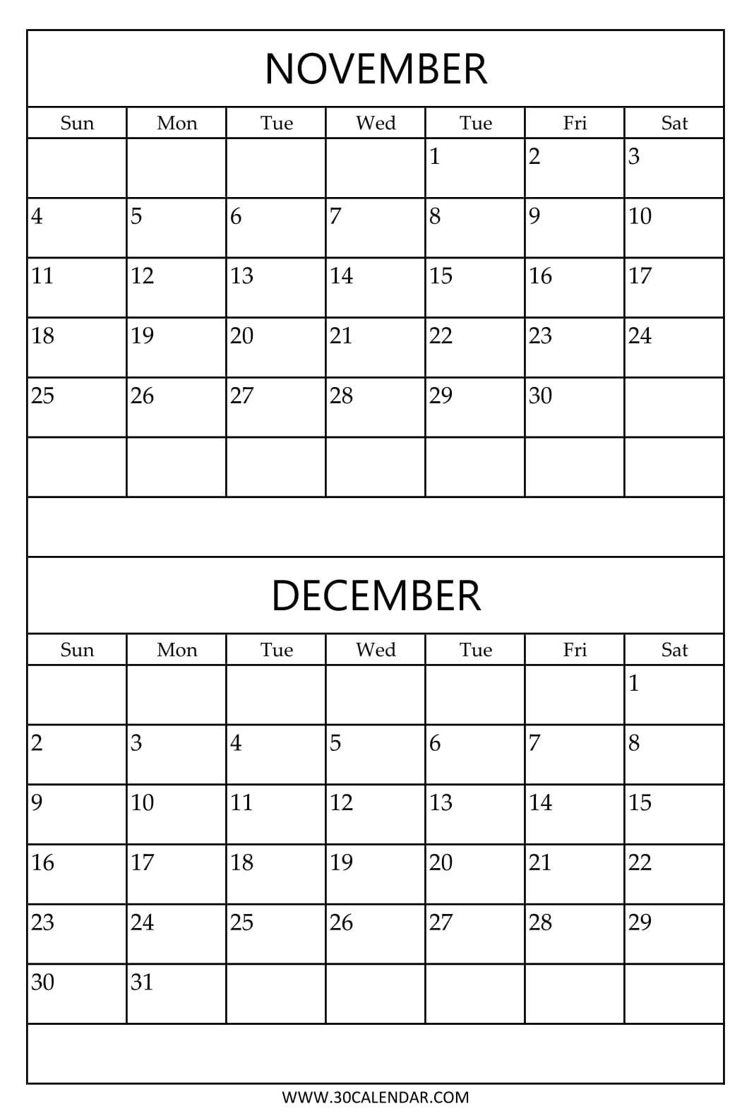 Print 2 Month Calendar | Thekpark-Hadong