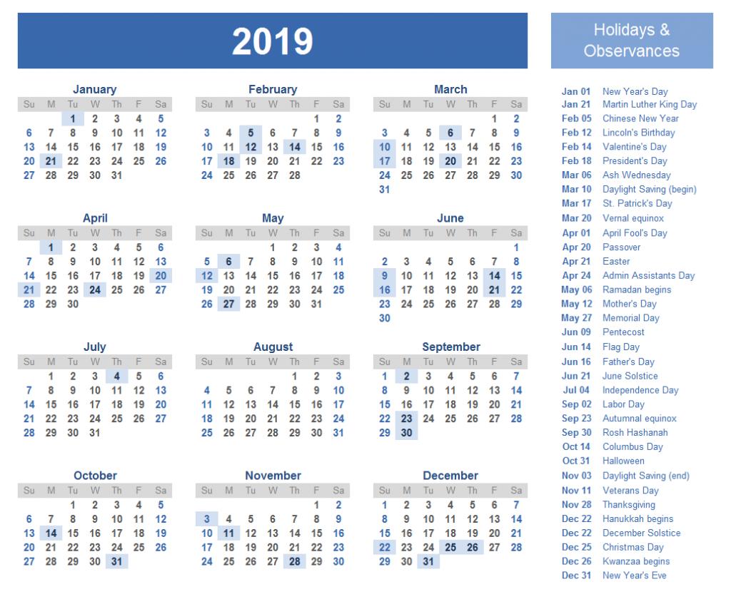 Printable 2019 Calendar With Qld School Holidays | Create