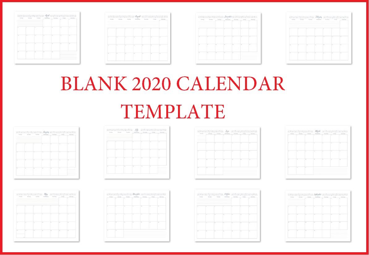 Printable 2020 Blank Calendar Templates | Calendar 2020