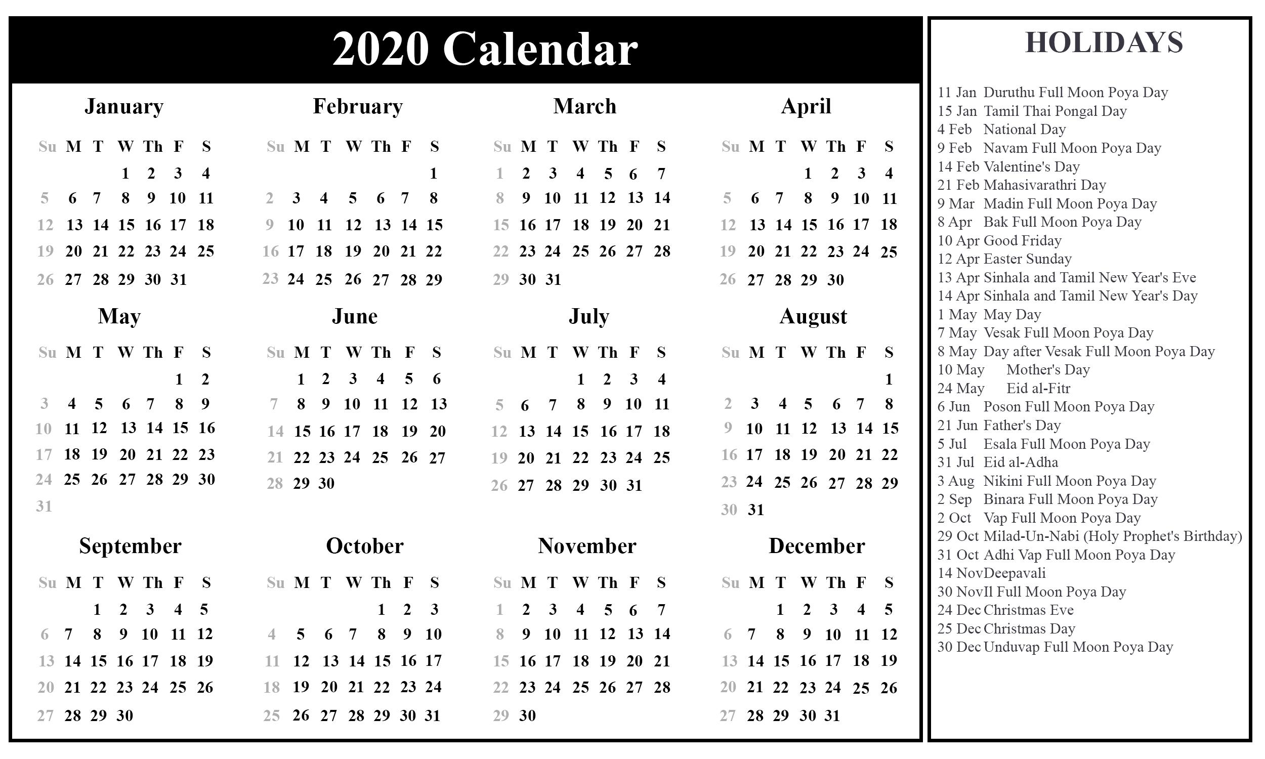 Printable August Calendar Template