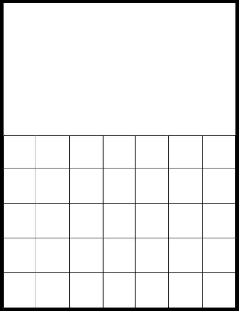 Printable Blank Calendar Grid | Calendar | Printable Blank