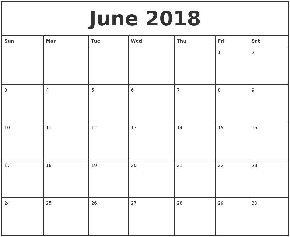 Printable Calendar 2018 Monthly | Printable Calendar 2019