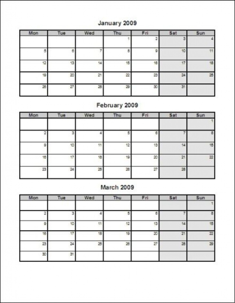 Printable Calendar 2018 Three Months Per Page | Printable
