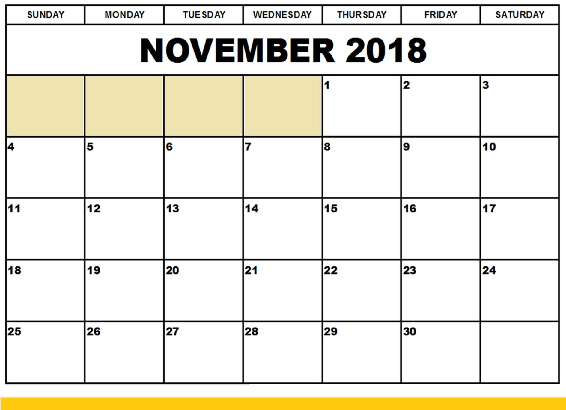 Printable Calendar 2018 To Edit   Printable Calendar 2019