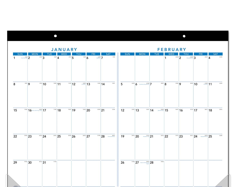 Printable Calendar 2018 Two Months Per Page | Printable