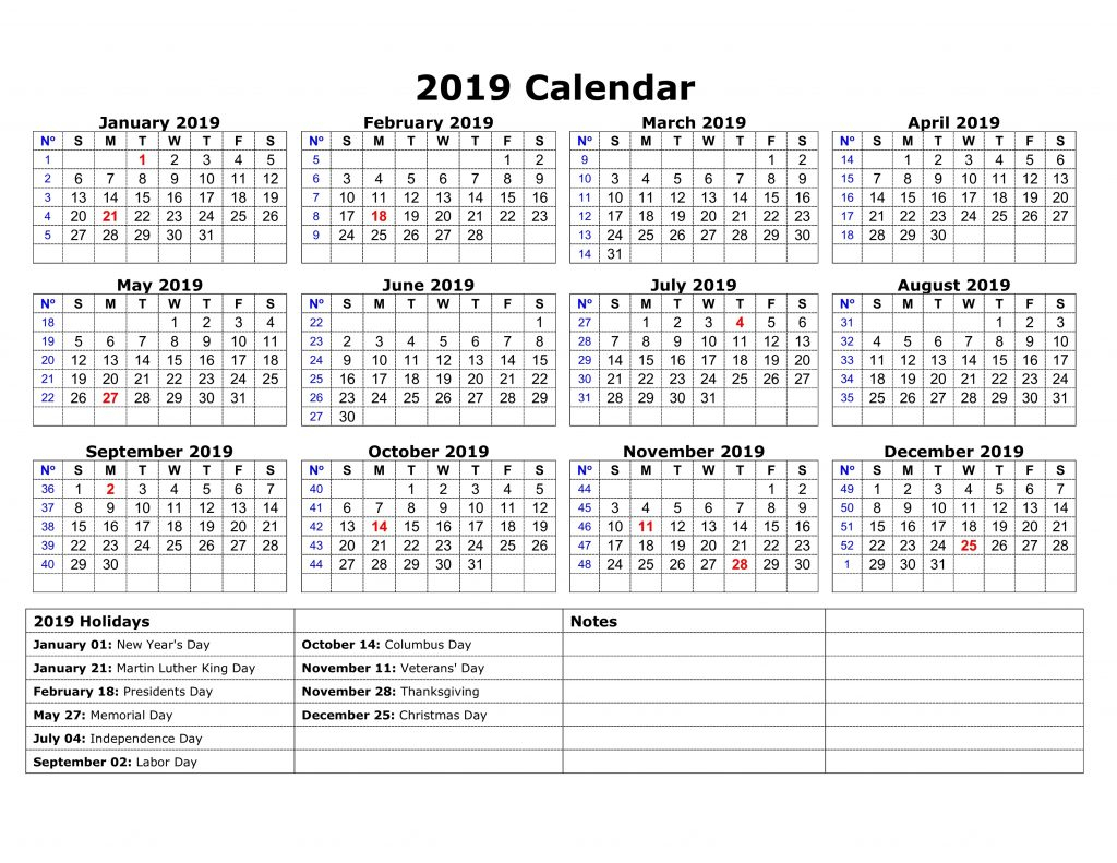 Printable Calendar 2019 Indonesia | Printable Calendar 2019