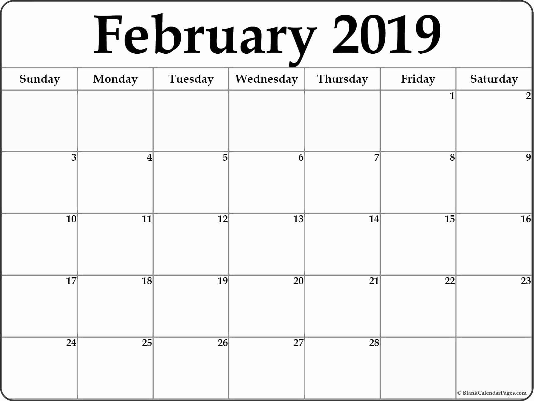 Printable Calendar 2019 Vertex42   Printable Calendar 2019