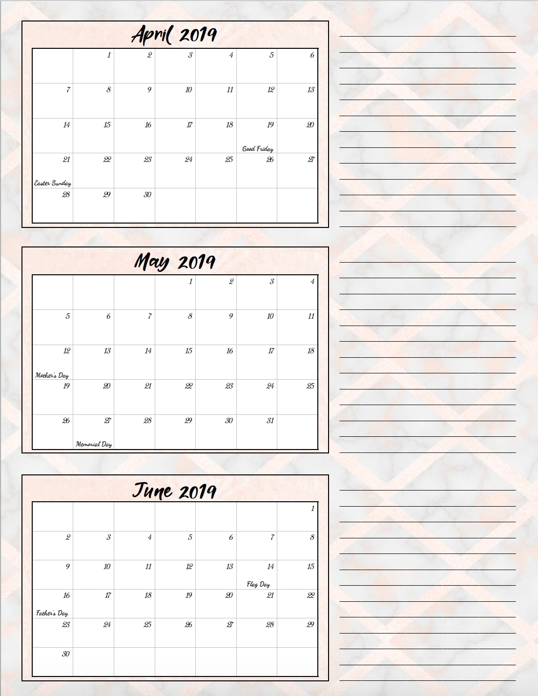 Printable Calendar 4Th Quarter 2019 | Igotlockedout