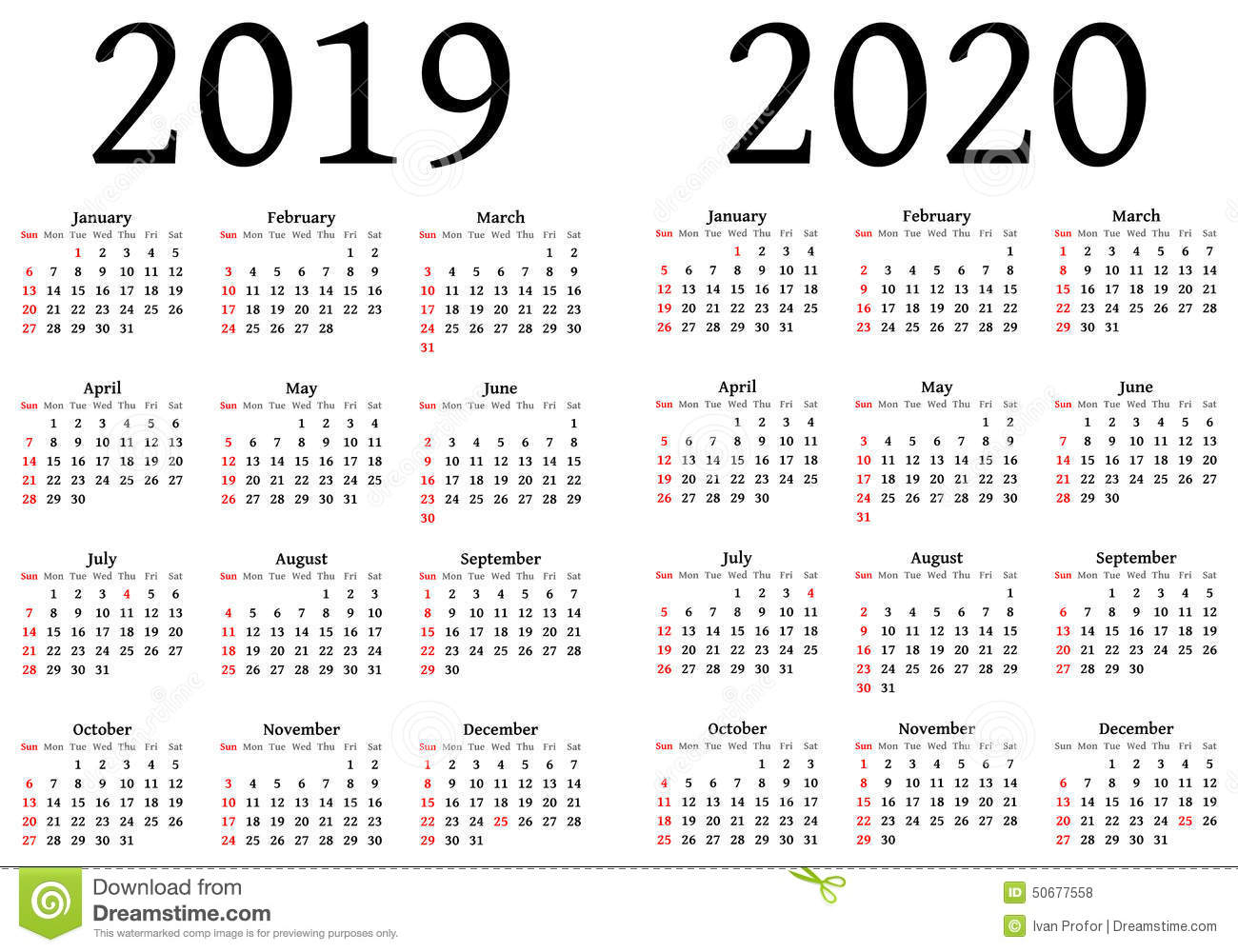 Printable Calendar For 2019 And 2020 | Printable Calendar 2019