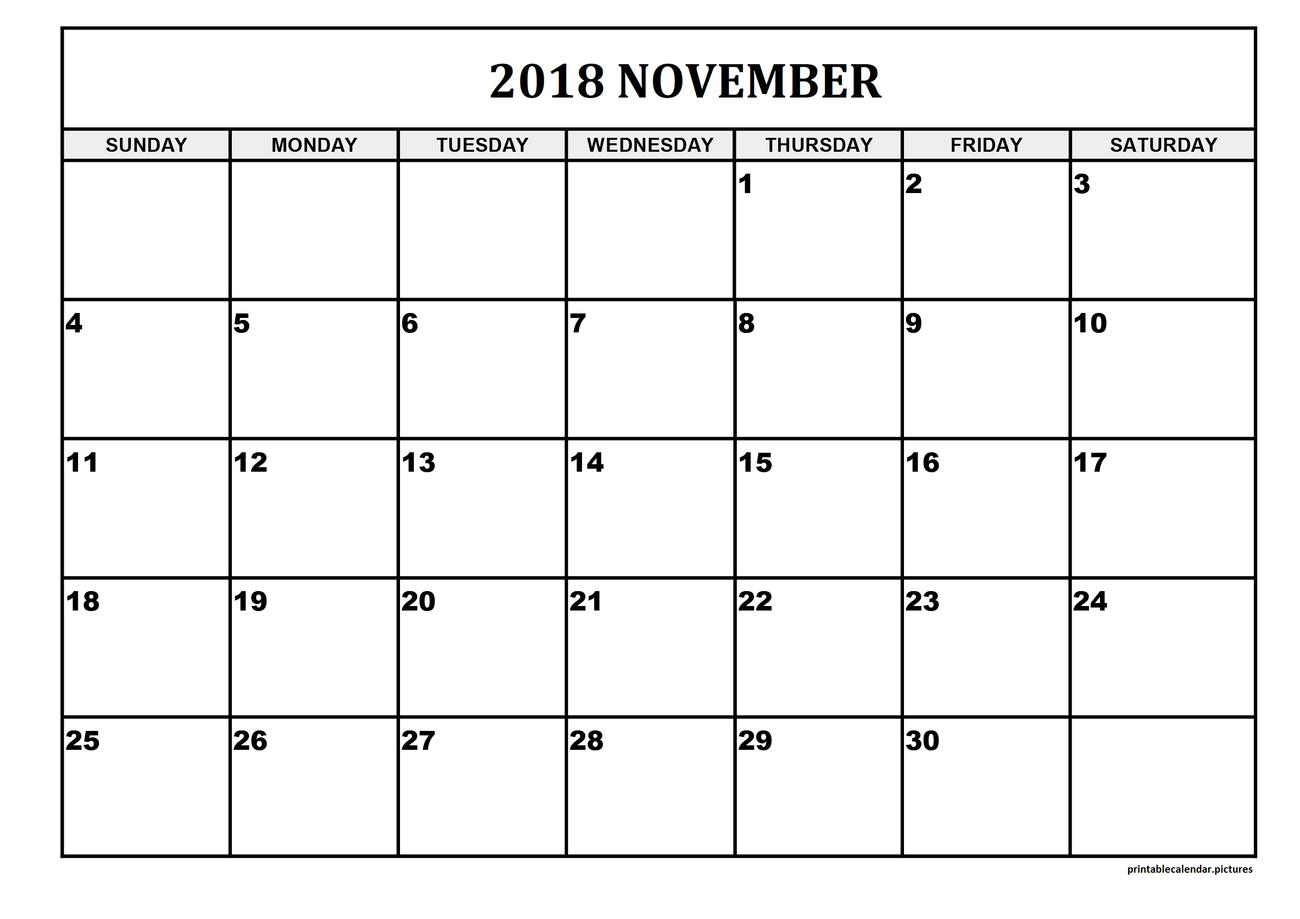 Printable Calendar Large Squares | Printable Calendar 2019