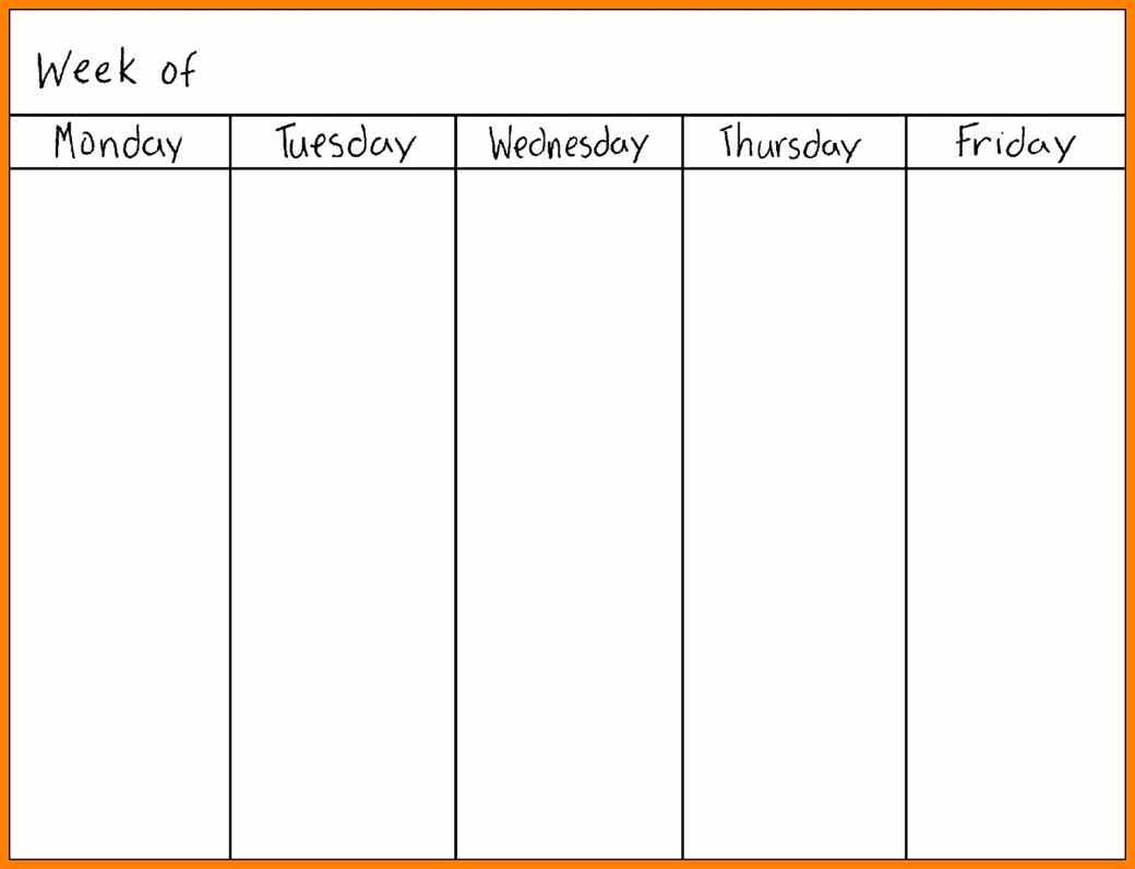 Printable Calendar Monday Through Sunday | Printable