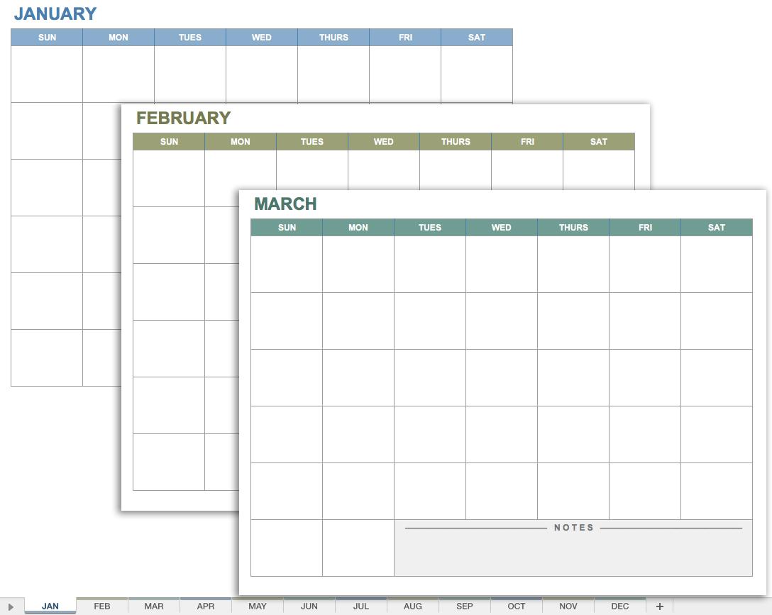 Printable Calendar No Dates | Printable Calendar 2019