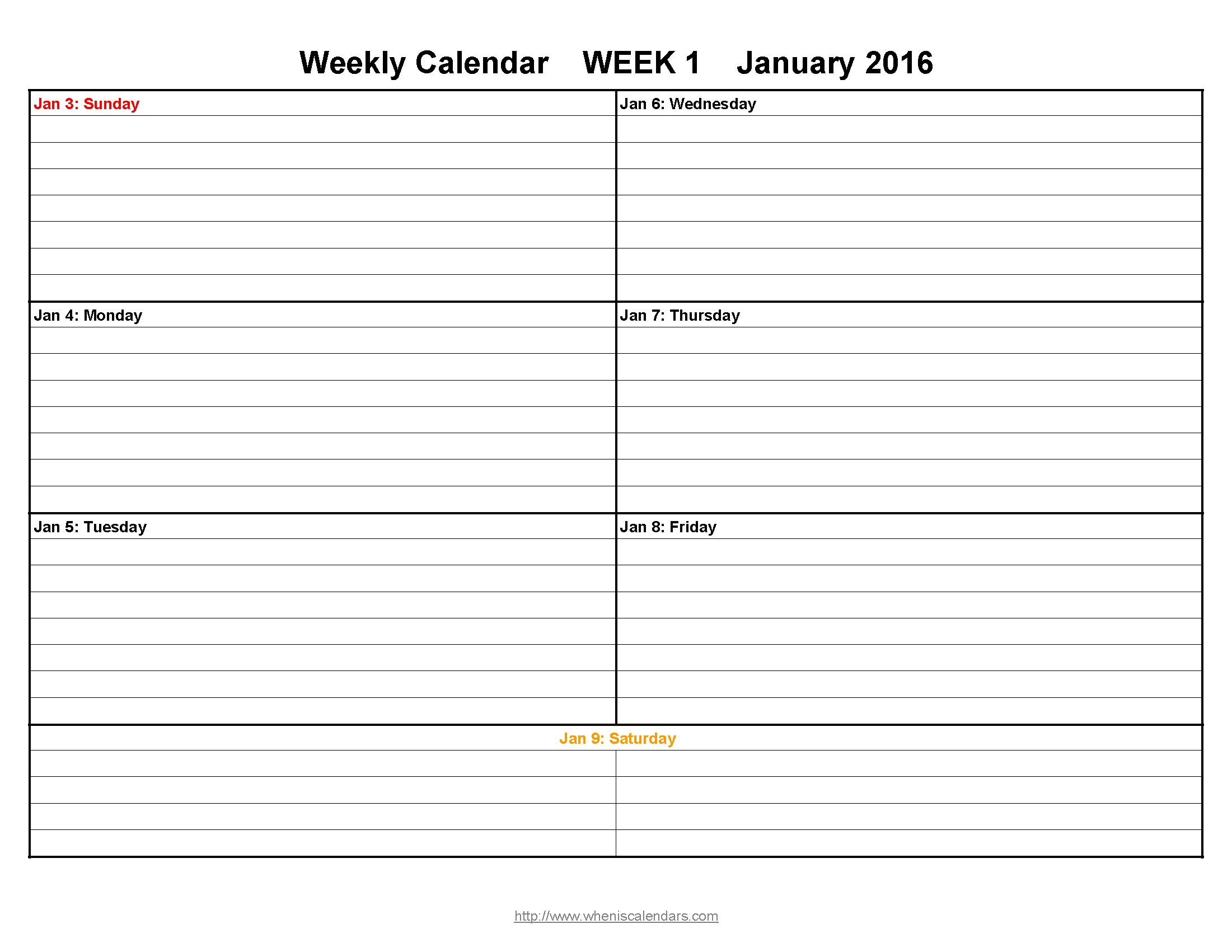 Printable Calendar With Notes | Hauck Mansion
