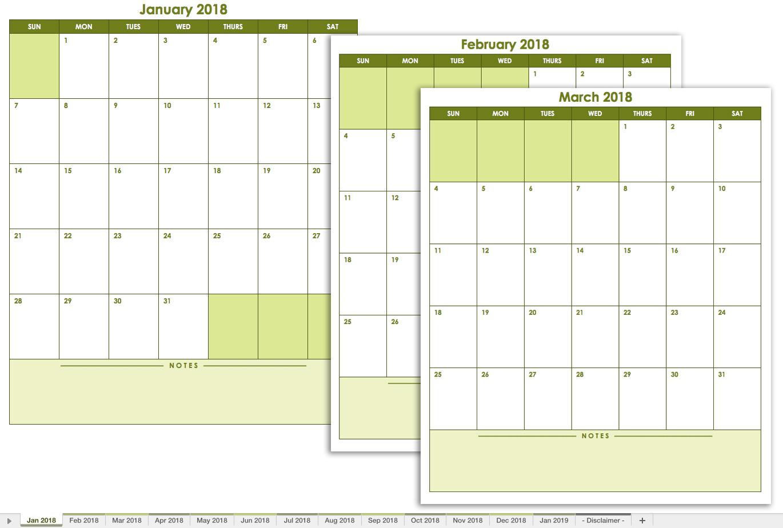 Printable Calendar Without Dates | Printable Calendar 2019