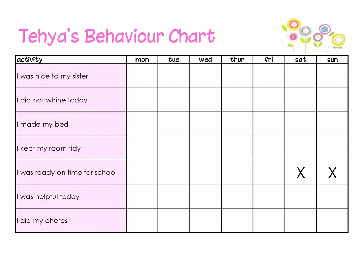 Printable Chart Templates Or Printable Behavior Charts