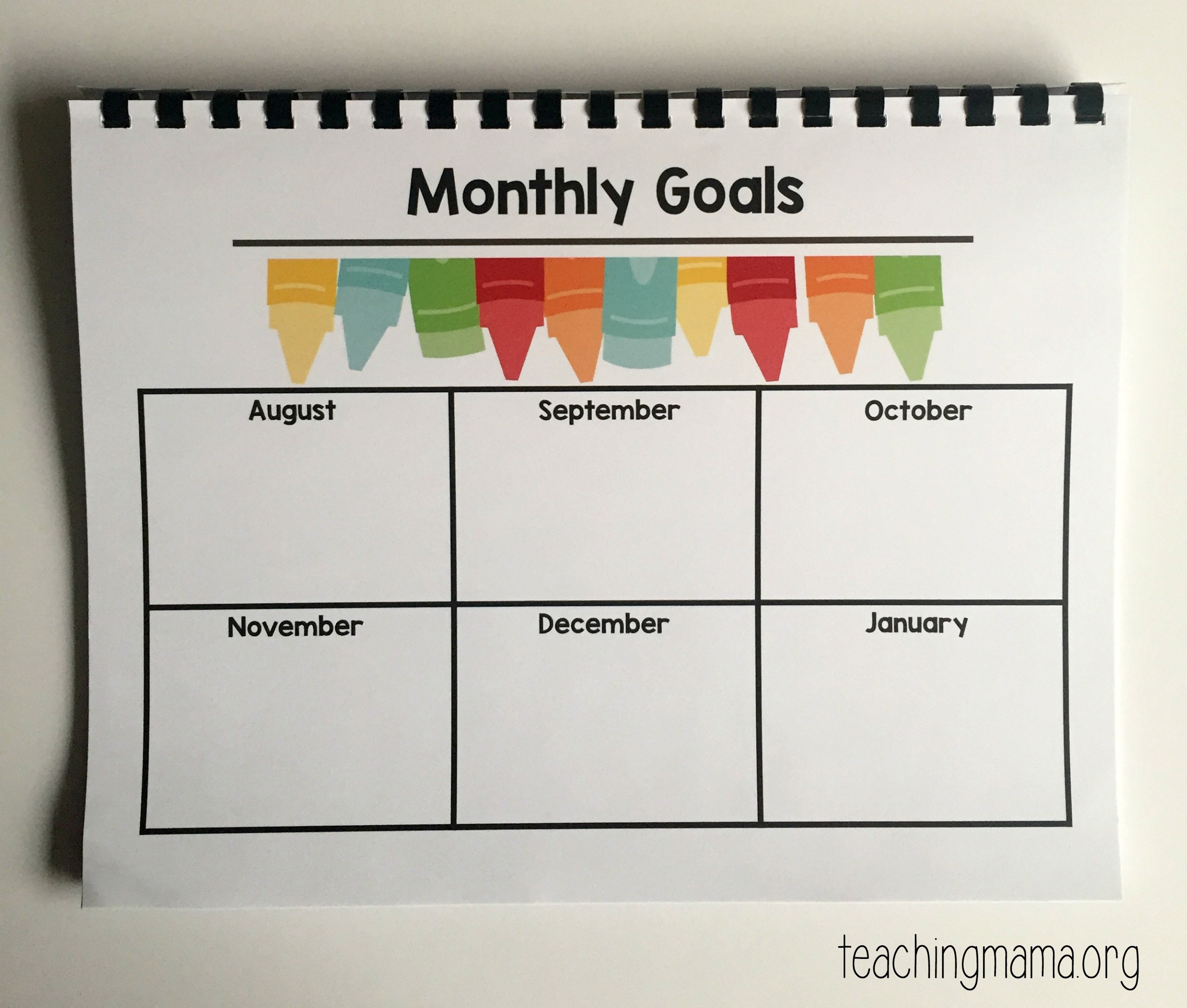 Printable Classroom Planner
