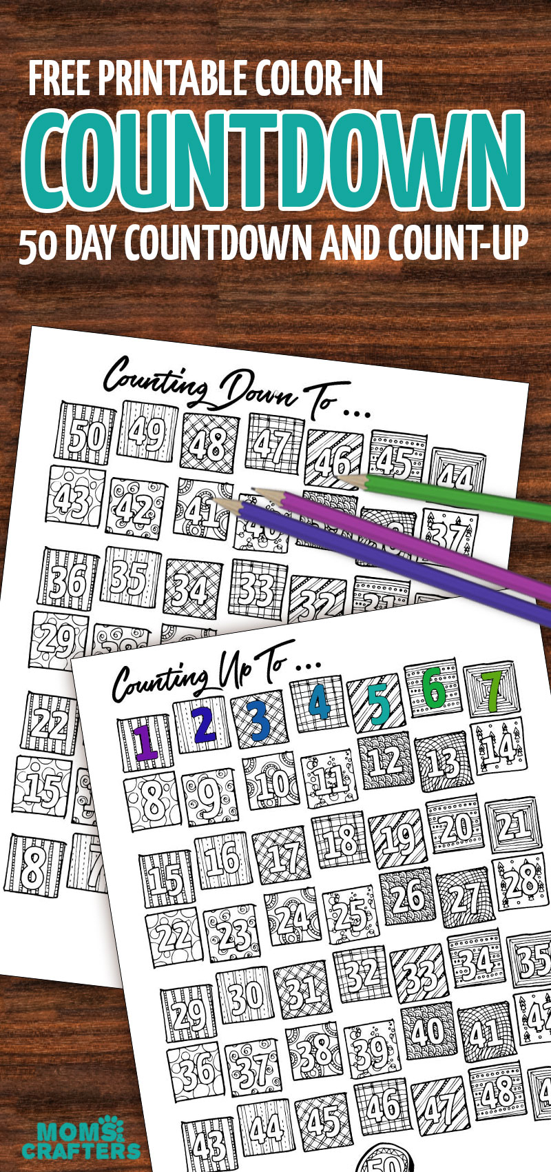 Printable Countdown Calendar And Progress Tracker - Color-In