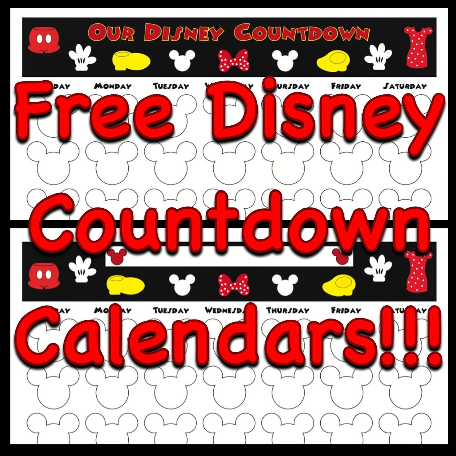 Printable Countdown Calendar For Vacation | Isacl