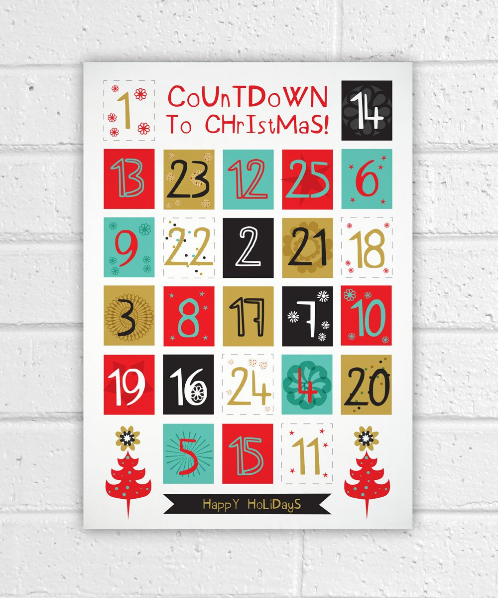 Printable Countdown Calendar Template And Printable Advent