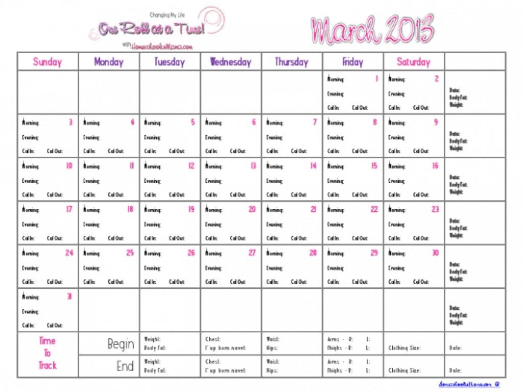 Printable Countdown Calendar Template Weight Loss Calendar