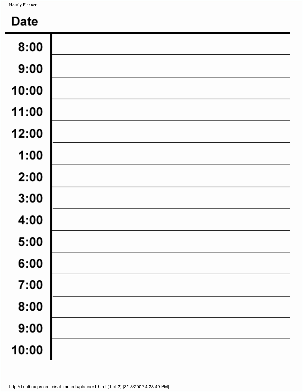 Printable Daily Schedule And 7 Hourly Schedule Template