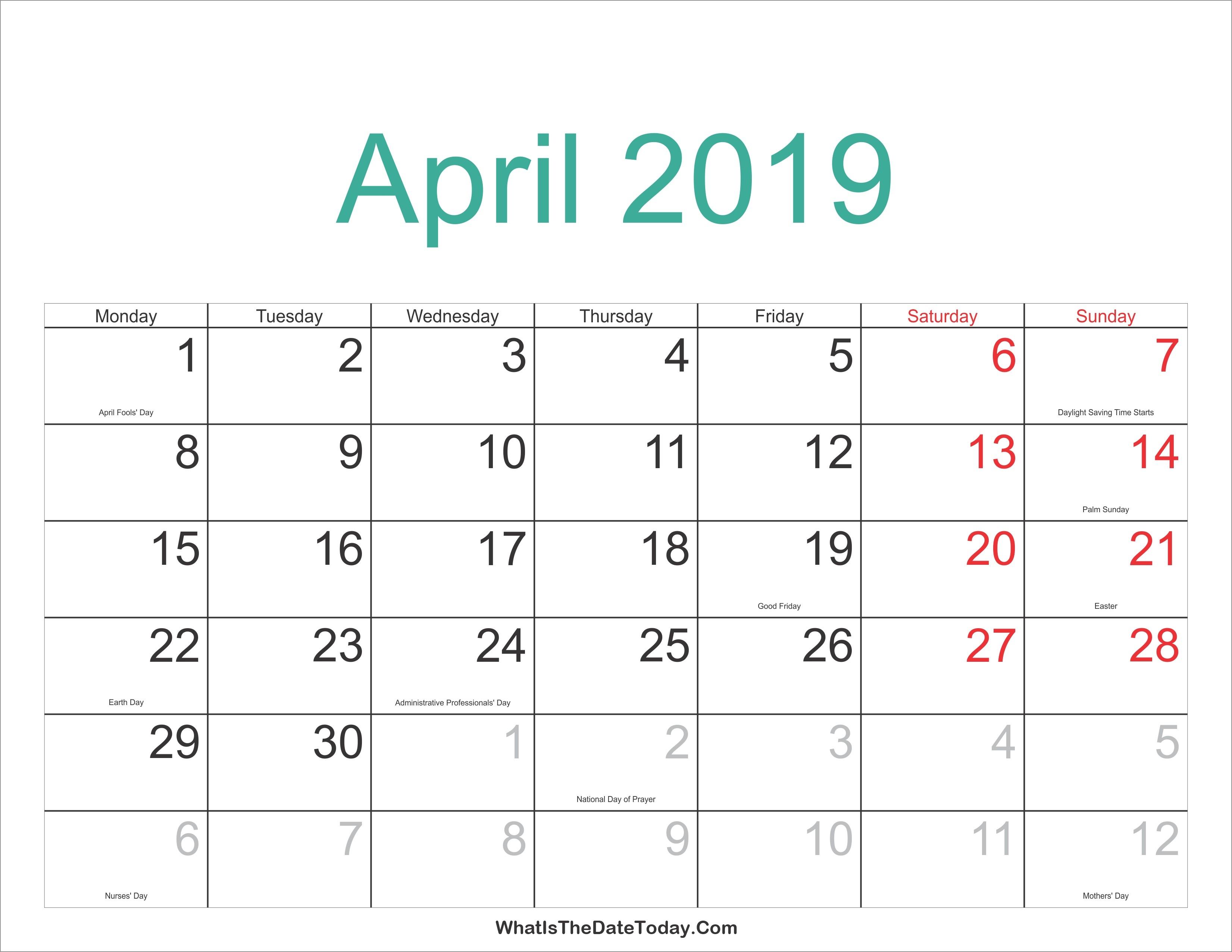 Printable Hebrew Calendar | Isacl