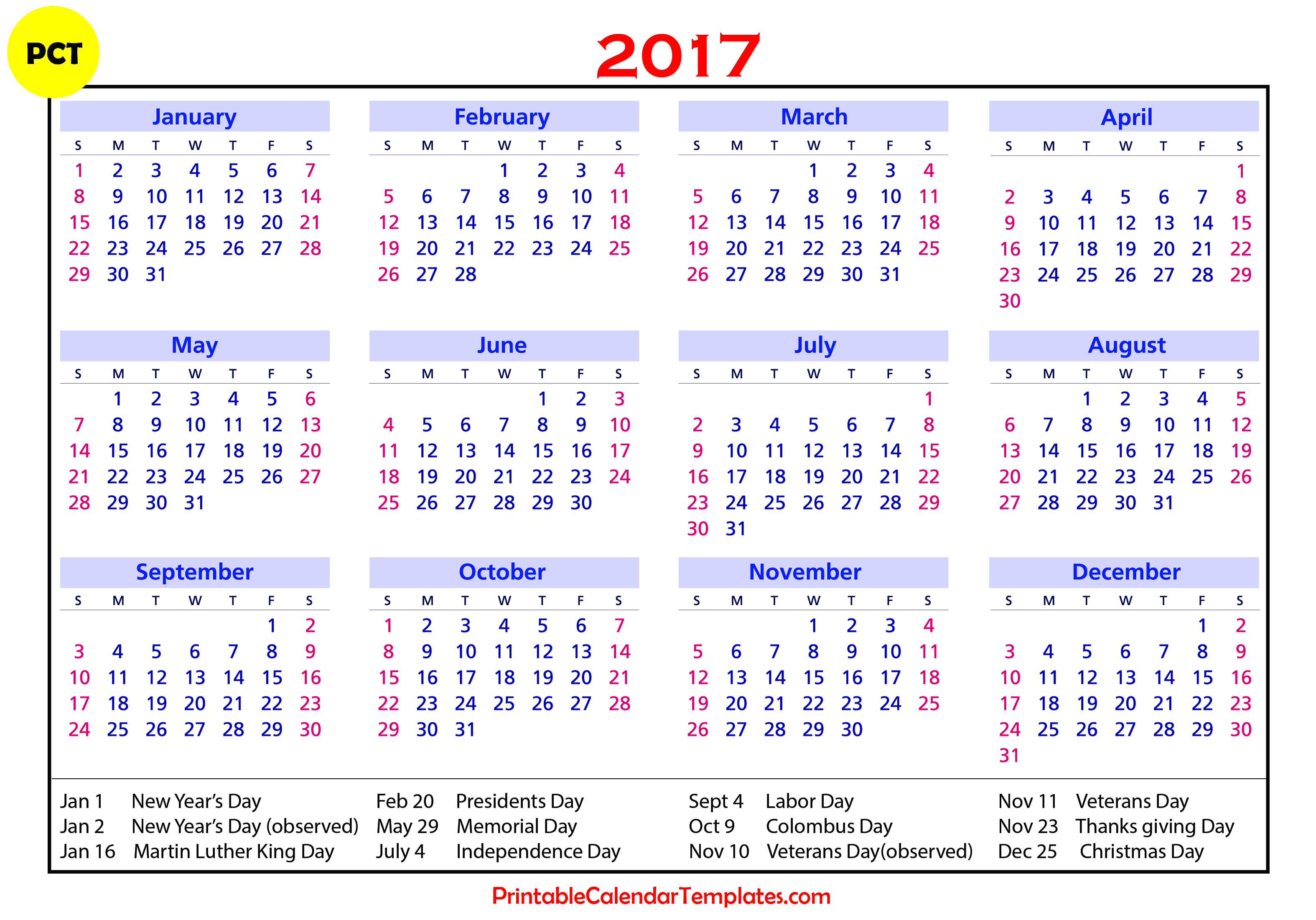 Printable Julian Calendar 2017 (84+ Images In Collection) Page 1