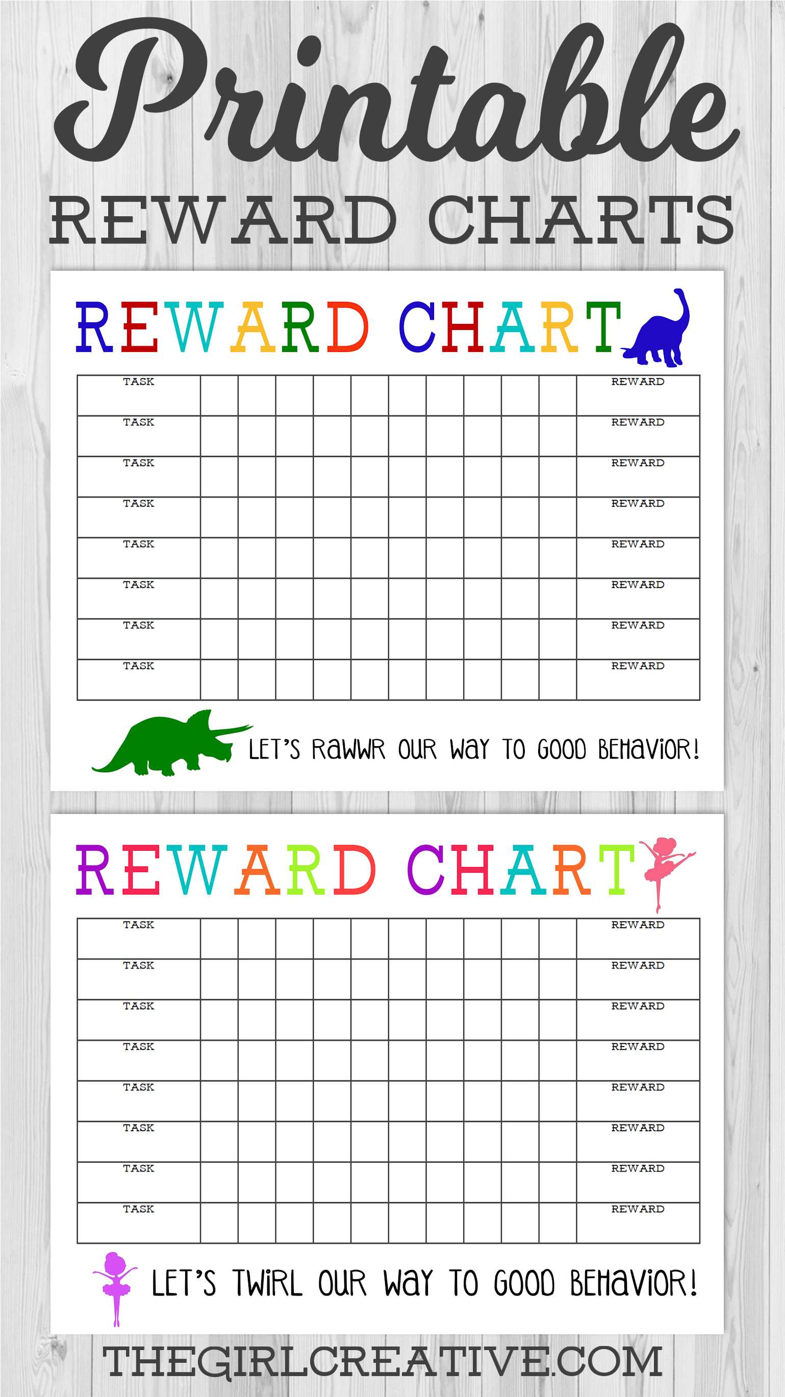Printable Reward Charts For Kids | Room Surf
