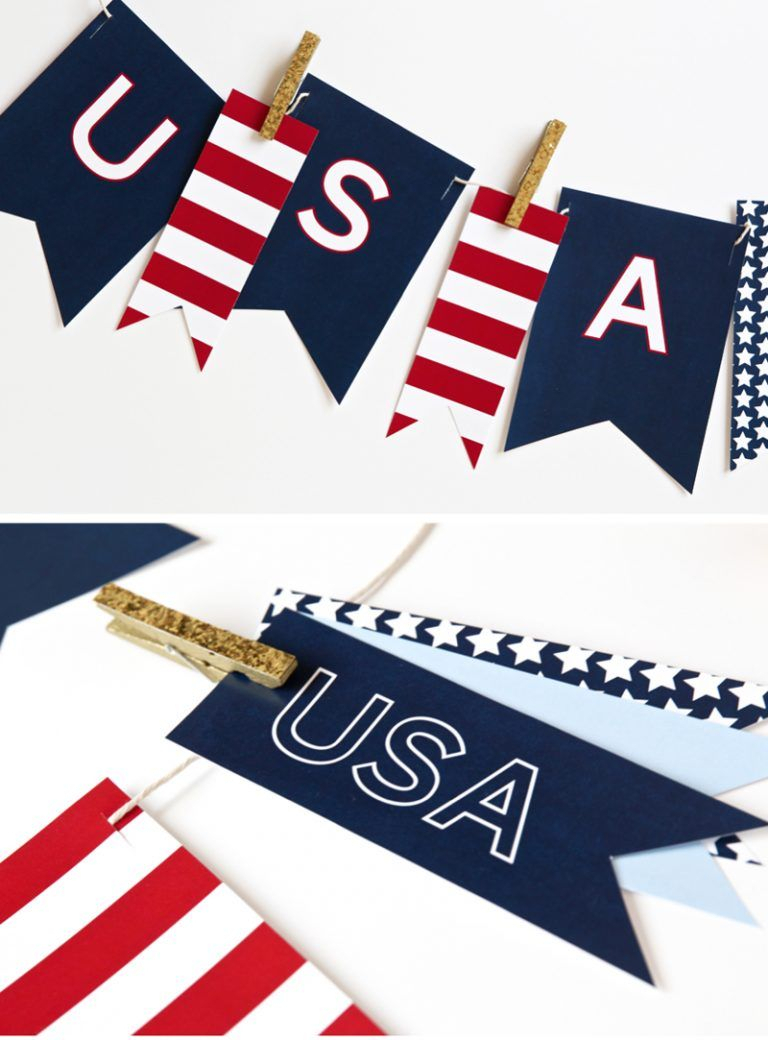 Printable Usa Banner For July 4Th - Free Pdf Download