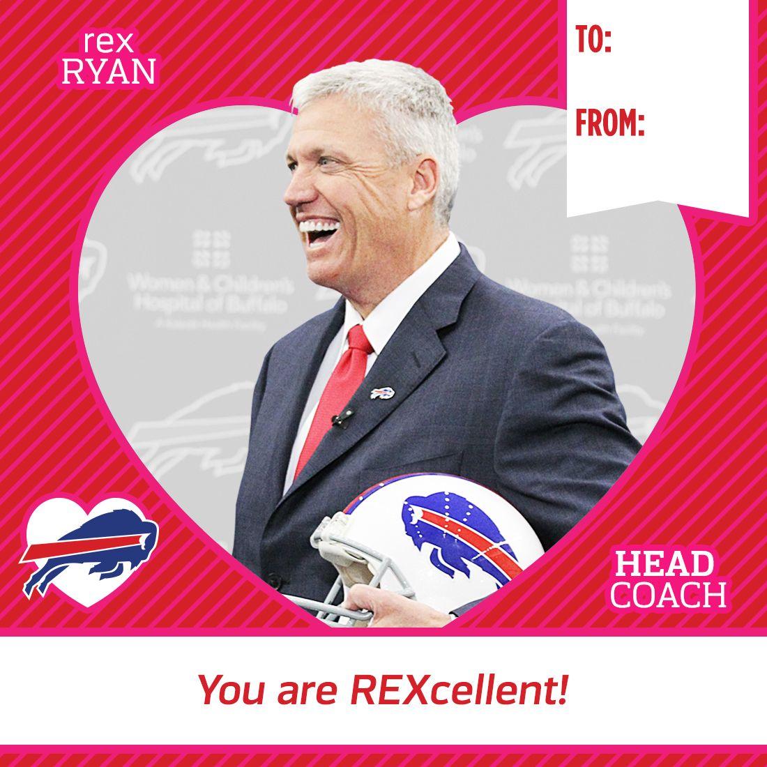 Printable Valentine's Day Cards | Buffalo Bills | Buffalo