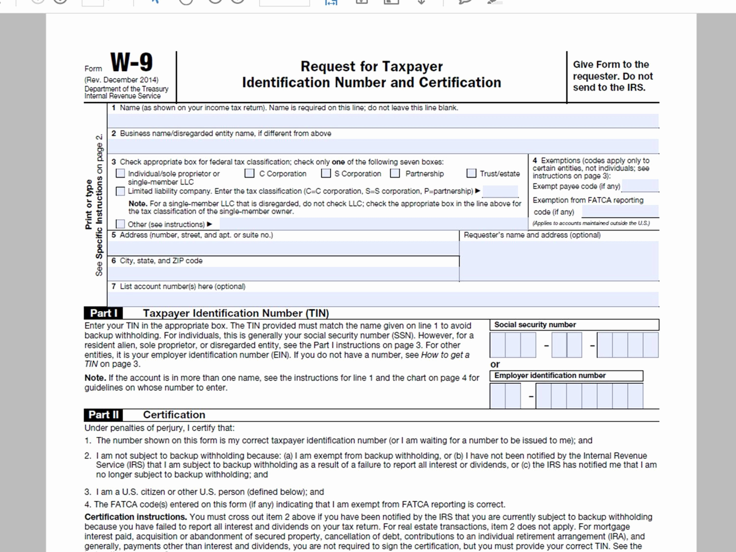 It's just a graphic of Witty Printable W9 Form