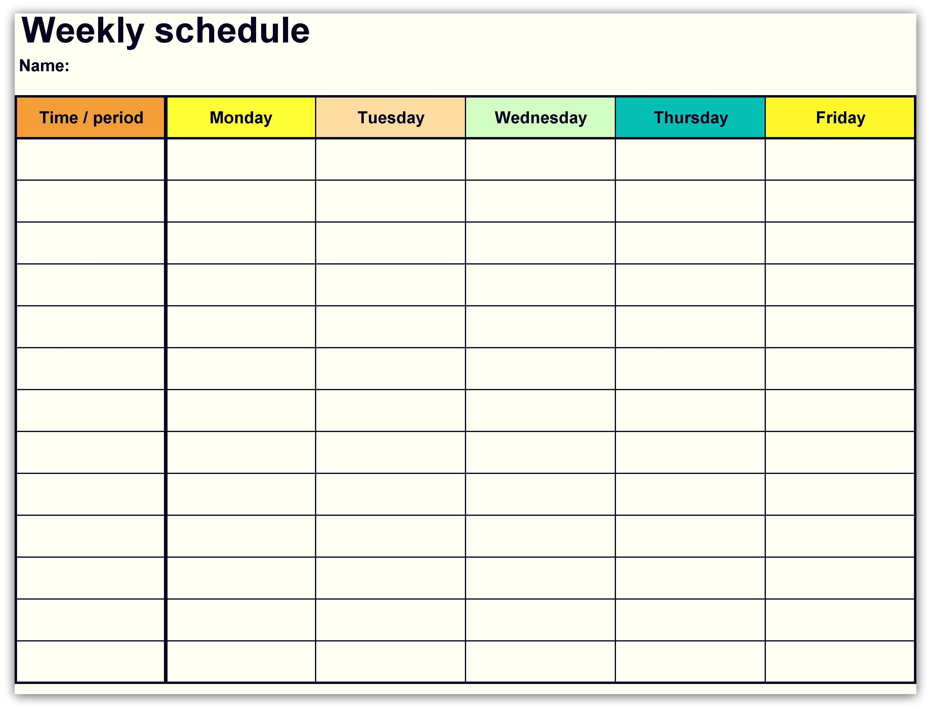 Printable Weekly Calendar Template Unique New Google Docs