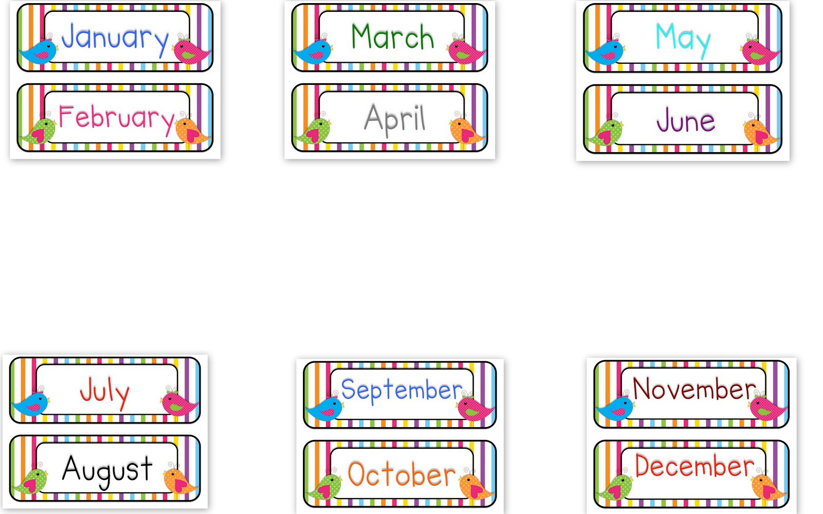 Printables Months Of The Year (106+ Images In Collection) Page 2
