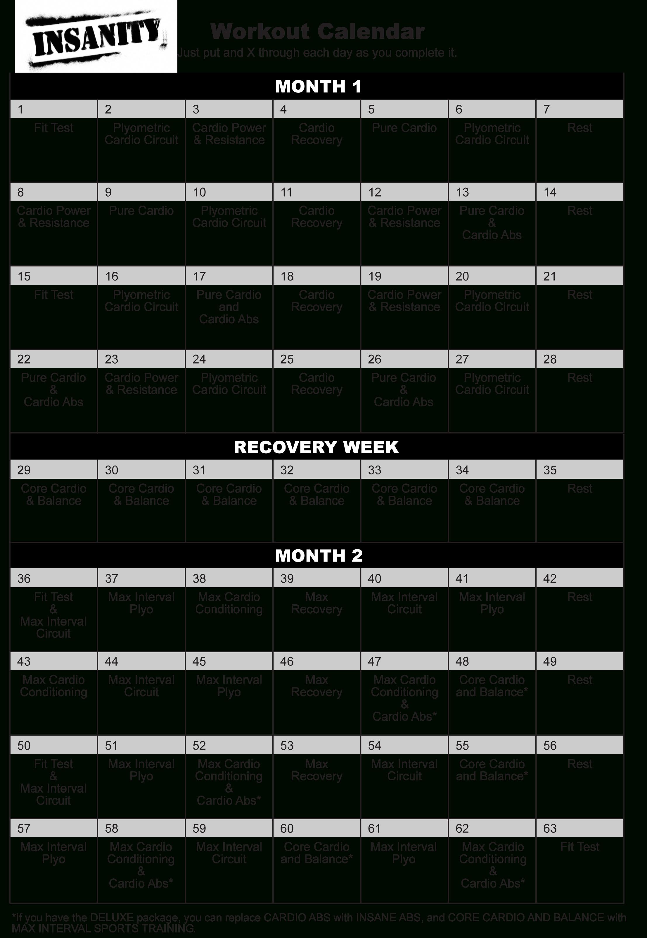 Pyssa22Pp: Insanity Calendar