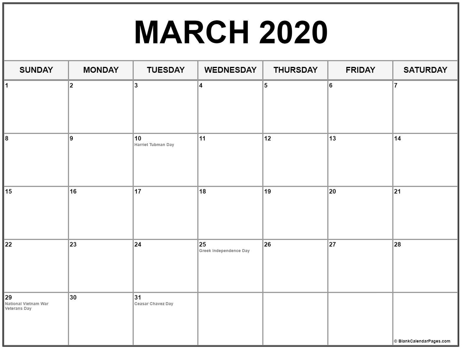 Remarkable 2020 Calendar Of Holidays • Printable Blank