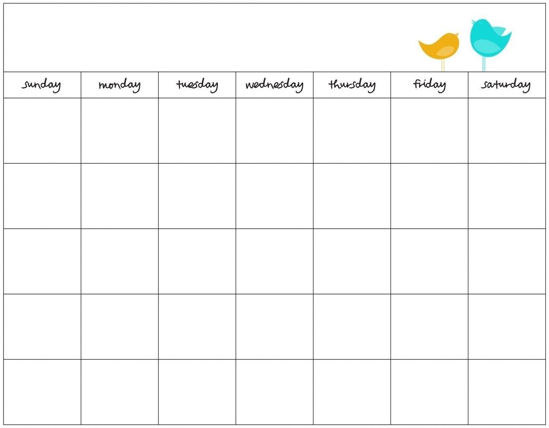 Schedule Template Day Week Calendar Printable | Smorad