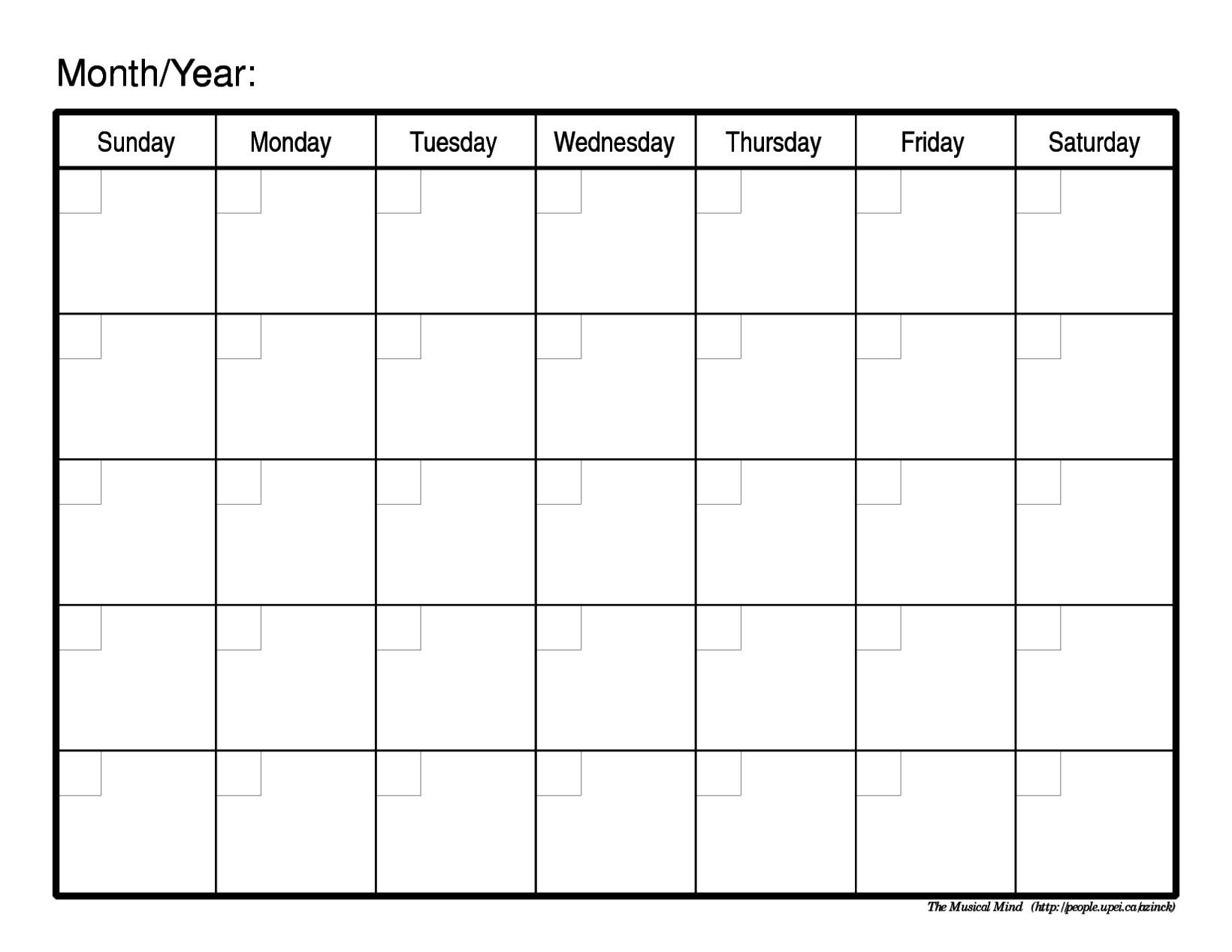 Schedule Template Free Printable Weekly Calendar Blank